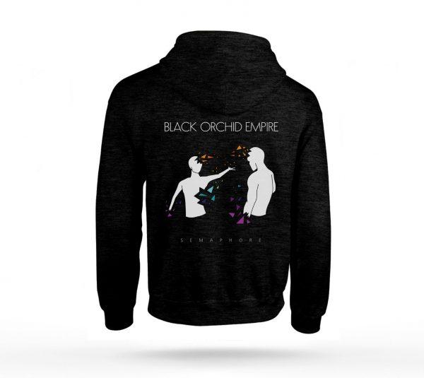 Black Orchid Empire Semaphore Hoodie Back